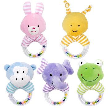 Grzechotki dla dzieci zabawki dla niemowląt 0 6 12 13 24 miesiące zabawki edukacyjne od 0 rozwojowe noworodki ściskacz słodkie zwierzaki żaba tanie i dobre opinie HXWANX Tkaniny CN (pochodzenie) Unisex Newborn Infants Educational Toys From 0 Developmental 13-24 miesięcy 3 lat 0-12 miesięcy