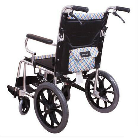 Fish Jump Wheelchair H032c Fold Light Wheelchair Exceed Light Portable The Elderly Travel Walk Instead Vehicle Small Round