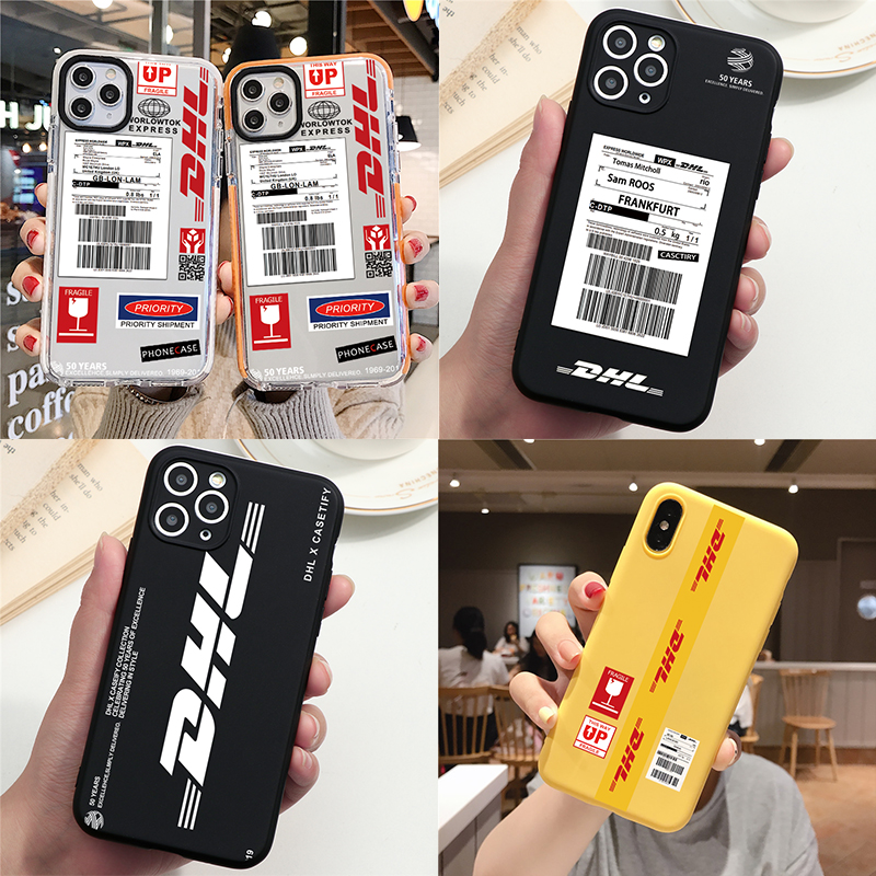 DHL Hot Express 50th Non-slip coque for iPhone X XS 11 Pro MAX 7 6 8 Plus SE Case Anti-fall Scrub Soft hard Two Color edge Clear