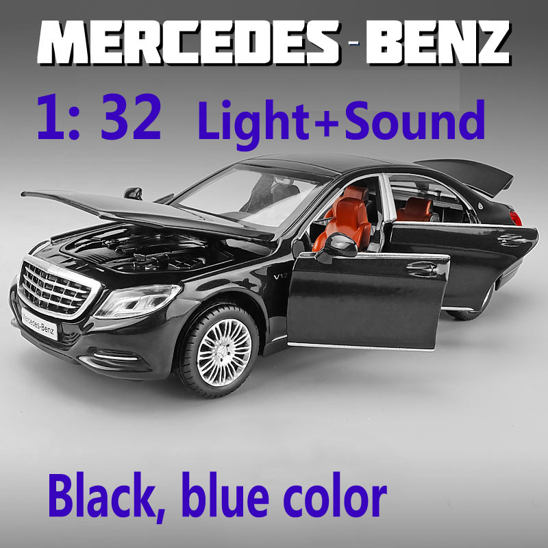 Alloy 1/32 Maybach S600 Diecast Toy Vehicles Metal Cars Models mini toys mercedes cars track birthday Gifts For kids Children image