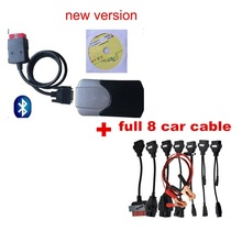 201503/2016R0 Adapter For Pro Cars Diagnostic Interface Tool for delphis VD ds150e CDP Full set8 Car Cables For wow CDP full 8 pcs per set car cable for delphis vd ds150e cdp pro plus and multidiag pro and wow snooper