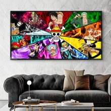 One Piece Classic Japanese Anime Luffy Nursery Kids Room Posters Canvas Painting Cartoon Home Decor Wall
