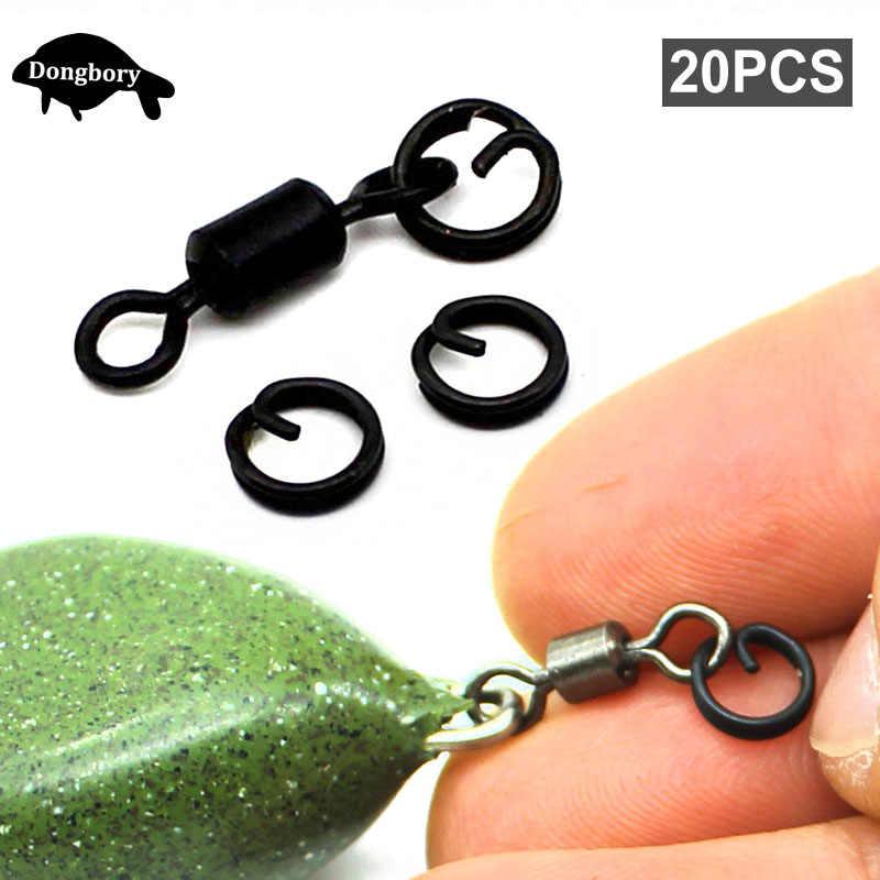 30pcs Carp Fishing Rig Ring Fishing Tackle Accessories Quick Change Rings