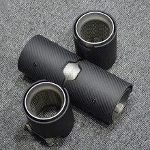 Высокое качество настоящий матовый углерод+ нержавеющая сталь M Производительность глушитель трубы для M2 M3 M4 M5 M6 диффузоры глушители советы