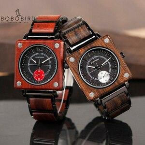 Image 1 - BOBO VOGEL Top Marke Luxus herren Uhr Quarz Holz Uhr Frauen Großes Geschenk relogio masculino Akzeptieren Logo Drop Verschiffen v R14