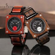 Bobo Vogel Top Brand Luxe Heren Horloge Quartz Hout Horloge Vrouwen Grote Gift Relogio Masculino Accepteren Logo Drop Shipping v R14