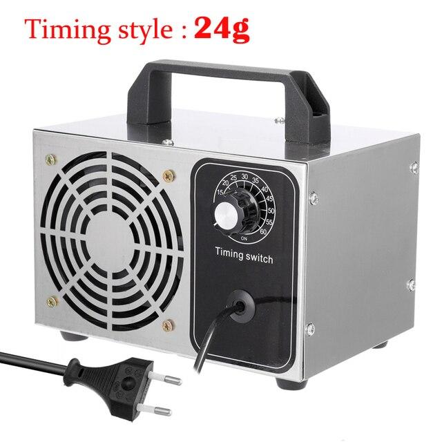 Tragbare Ozon Generator 220V 24g ozonisator Luft Reiniger Sterilisation Reinigung Ozono Generator Deodorant Desinfektion ausrüstung