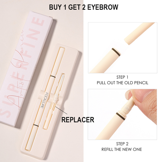 FOCALLURE Artist Sketch Eyebrow Pencil Waterproof Natural Long Lasting Tint 4 Color Brows Eye Makeup Eye Brow 2