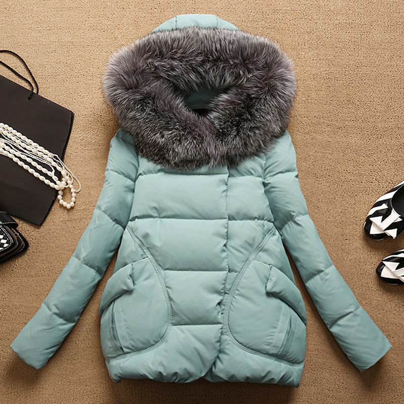 2019 New 90% Duck Down Jacket + Large Fox Fur Hooded Long Sleeve Winter Coat Female Korean Thick Warm Coats Hiver YRF6608