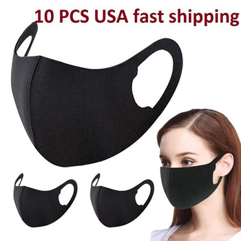 10 pcs reusable mask Care face washable pm25 Anti-pollution facial masks flu Washable 3D Ice Silk Cotton Earloop Mask Mouth cap