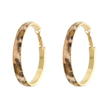Autumn and Winter 2018 New Leopard Earrings South Korea East Gate Temperament Baidu Ring Network Red Woman