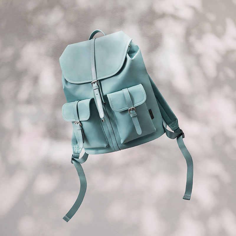 2020 חדש הגעה NINETYGO 90FUN נוסע ניילון גבירותיי תרמיל נשים 14 אינץ מחשב נייד עמיד למים אופנה סגנון ניילון תיק