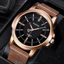 Stainless Steel Quartz Watch Classic Men Wrist Watches Strap For Men Women Wristwatch Band Leather Bracelets Male Clock Hours