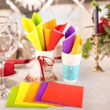 Салфетки для дома, одноразовые бумажные полотенца, вечерние и Праздничные салфетки, 200 шт, одноцветные бумажные салфетки, декупаж, с рисунком, для напитков