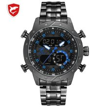 Porbeagle Shark Sport Watch Men Top Luxury Brand Men's LCD D