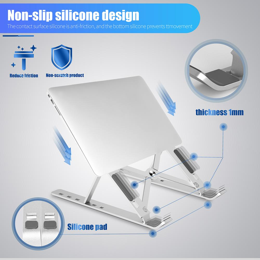 lowest price Portable Laptop Stand Aluminium Notebook Stand Foldable Laptop Holder Adjustable for Macbook Air Pro Vertical Laptop Holder Legs