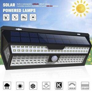 Image 2 - 1/2 Pack LITOM 132 LED solarny czujnik ruchu PIR kinkiet biała lampa ogrodowa IP65 wodoodporna do dekoracji ogrodu