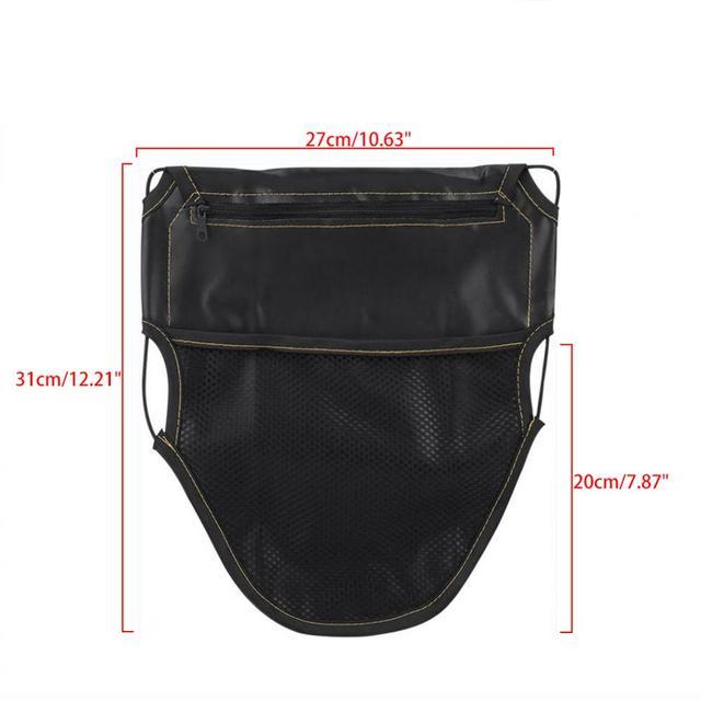 Sac de siège de Scooter de moto | Sac en cuir PU sous le siège, pochette de rangement, sac de rangement à doubles poches, organisateur de Documents cartes