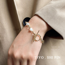 Simple and cool style bracelet female ins fashion chain hand joker personality