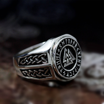 Bague viking acier