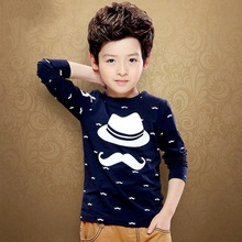 Spring Cotton T Shirts Boys Long Sleeve Shirt Clothes Boy Kids Tops O-Neck Printed T Shirt Tees Clothes for  Big  Kids 9 Styles cotton baby t shirt long sleeve t shirts for babies cartoon o neck top baby boy first birthday outfit boy shirt clothes tees