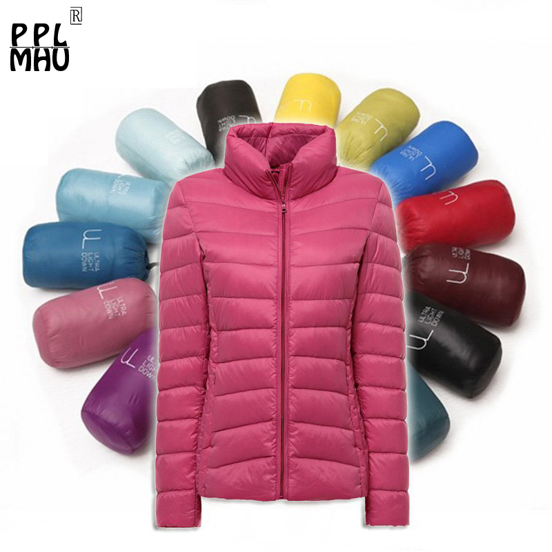 Winter New 2019 Jacket Women Cotton Down   Parka   Standing collar Casual Slim Down Solid Basic ultraligera de cazadora para mujer