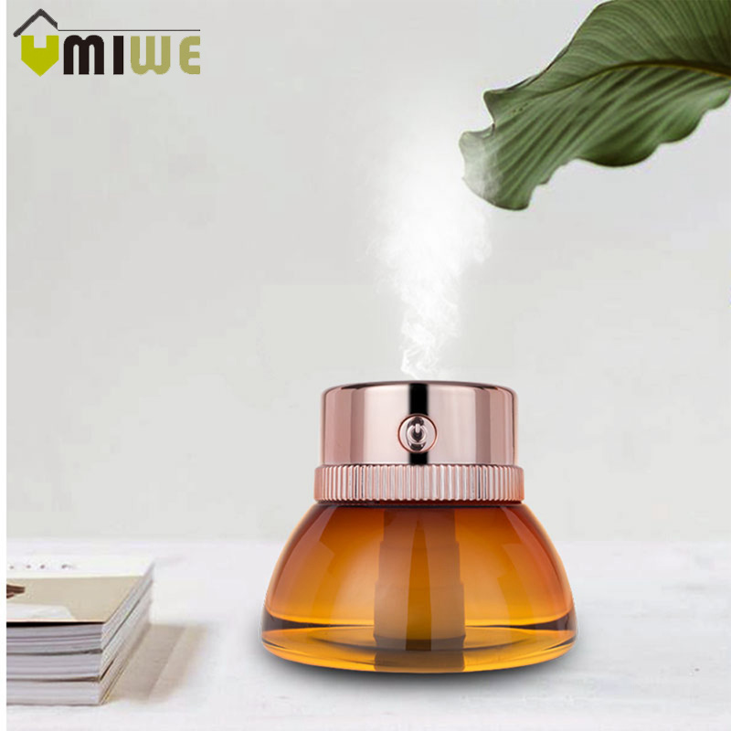 LED Lamp Air Ultrasonic USB Mini Humidifier For Home Essential Oil Diffuser Atomizer Air Freshener Mist Maker With Night Light