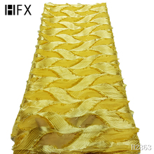 YF HZGJMY african lace Chiffon Material for Wedding Party tulle fabric with feather French Net Lace women A2864