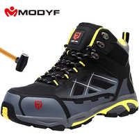 MODYF hommes acier orteil travail chaussures de sécurité léger respirant Anti-fracassant Anti-crevaison antistatique bottes de protection