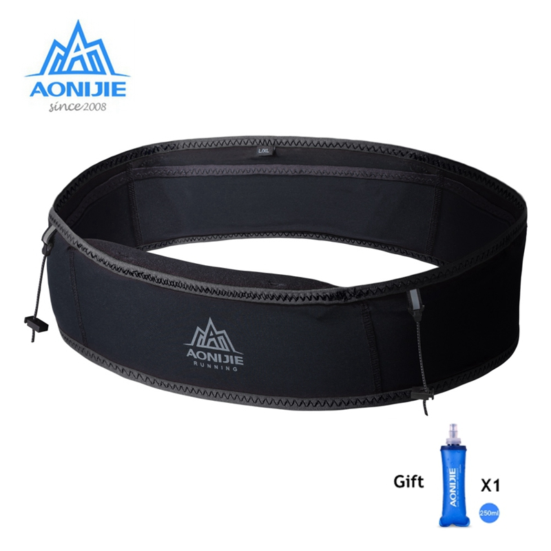 Aonijie Outdoor Waist Belt Bag Portable Ultralight Waist Packs Phone Holder For Trailing Running Camping With Water Soft Flask