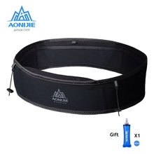 Aonijie sac de ceinture de taille en plein air Portable ultra léger taille Packs support pour téléphone pour traîner en cours dexécution Camping avec eau souple flacon