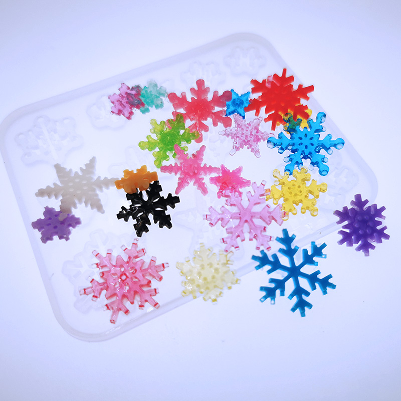 New Transparent Silicone Mould Dried Flower Resin Decorative Craft DIY Square Snowflake Mold Epoxy Resin Molds For Jewelry