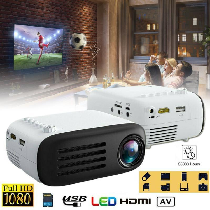 7000 Lumens Portable Mini 3D Full HD 1080P LED Projector Theater AV/TV/USB/HDMI Projectors With Remote Control EU UK US AU Plug