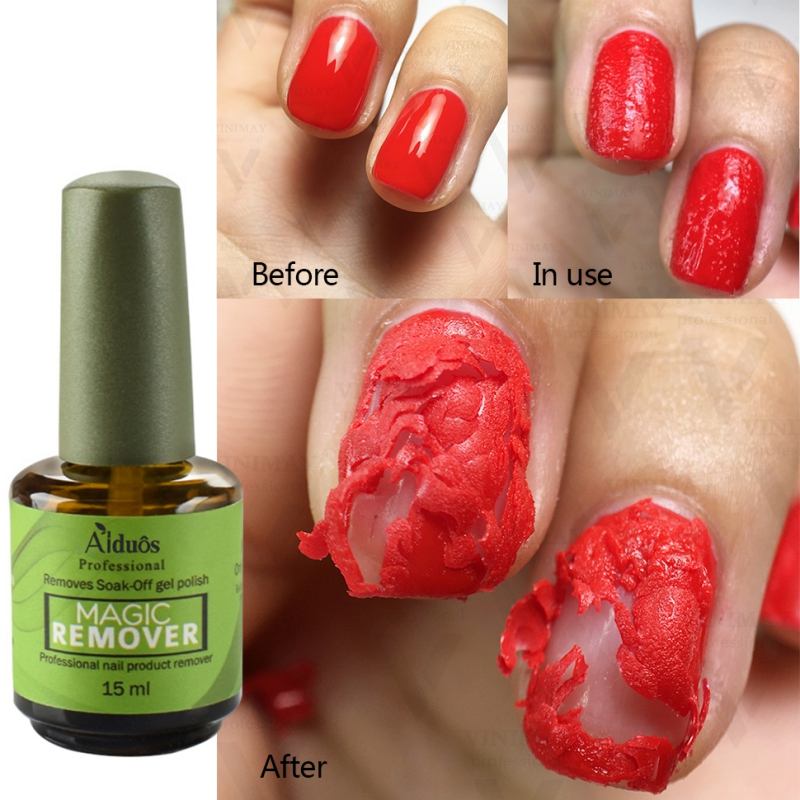 Magic Nail Gel Remover UV Gel Nail Polish Remover 2min Fast Soak Off Degreaser Liquid Remove Sticky Layer Manicure Tools 15ml 1