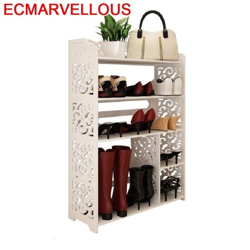 Hogar Sapato Sapateira Furniture font b Closet b font Zapatera Wood European Organizer Zapatero Organizador De