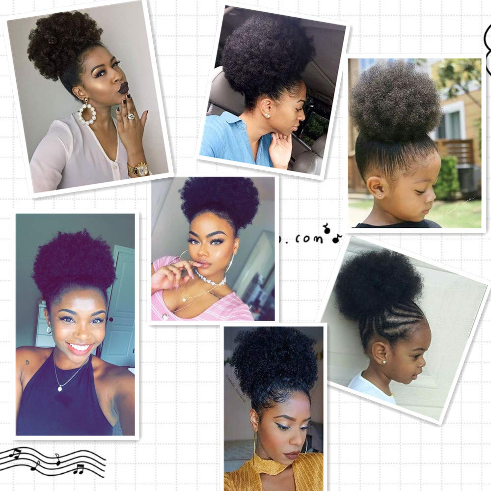 HOUYAN Bun-Wrap Ponytails Puffs Hair-Styling-Accessory Artificial-Afro Natural African