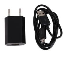 2IN1 USB Charging Cable Power Adapter EU Plug for Android Mobile Phones