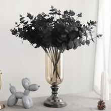 Горячие шелк+ пластик искусственный цветок эвкалипта Тип Черный 20 голов Свадебная вечеринка украшения реалистичные искусственные растения