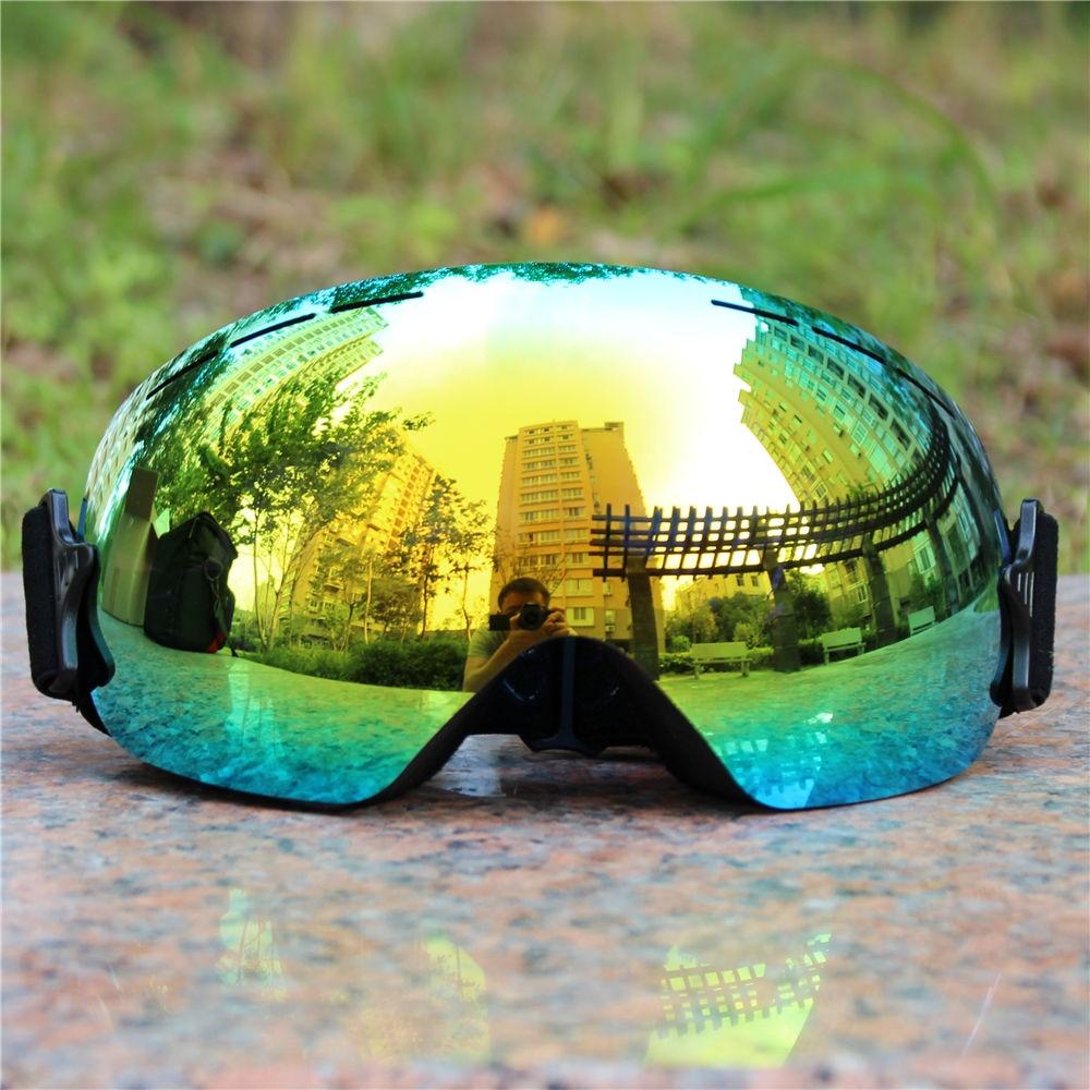 Full Color Light Ski Goggles Double Lens Layers Anti Fog Big Ski Mask Glasses Skiing Men Snow Snowboard Goggles Winter Eyewear