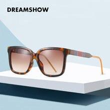 Модные солнцезащитные очки большого размера женские брендовые