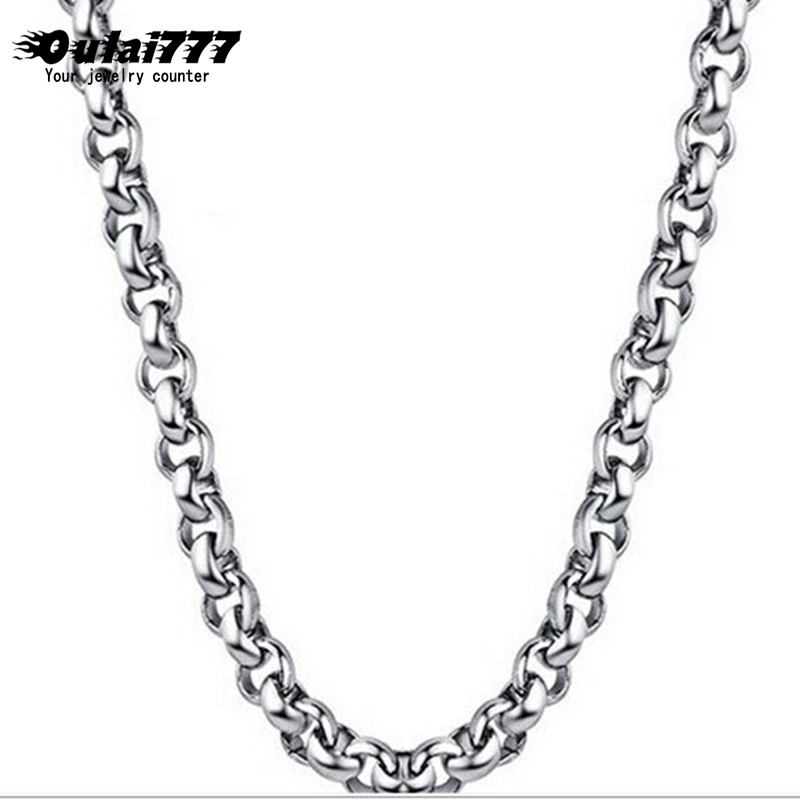 oulai777 men necklace stainless steel silver gold necklaces chain male necklace mens fashion jewelry long chains on the neck
