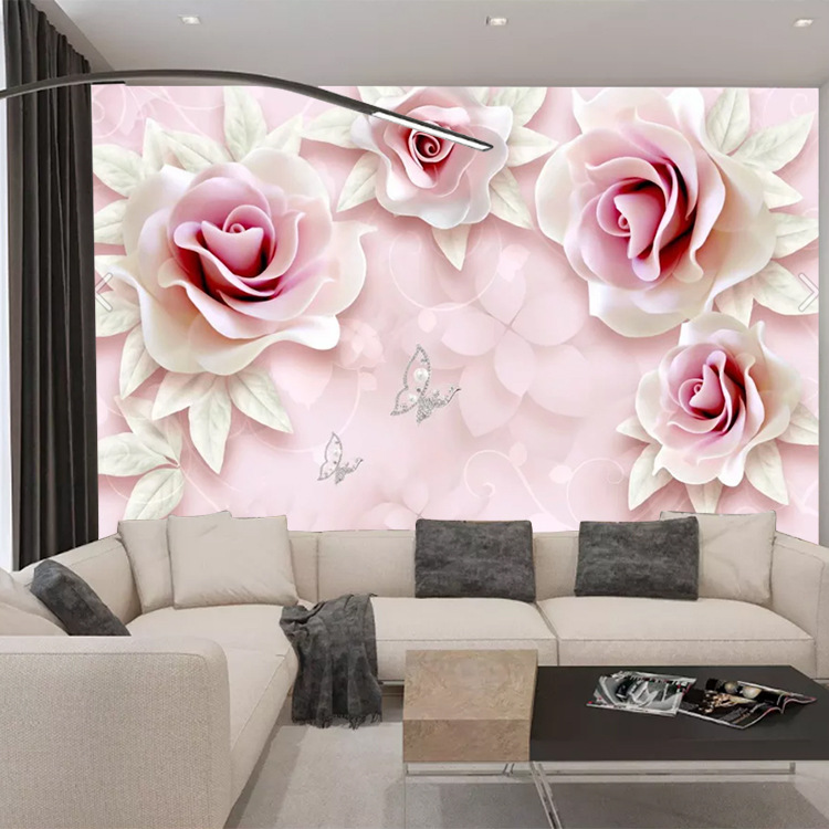 5D TV Backdrop Wallpaper 3D Seamless Mural 8D Film And Television Wallpaper And Rich Living Room Sofa Stereo Wall Cloth