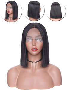 S-Noilite BOB Wig Short Lace-Front Black Syntheitc Straight Women for Non-Free 10/12/14inch