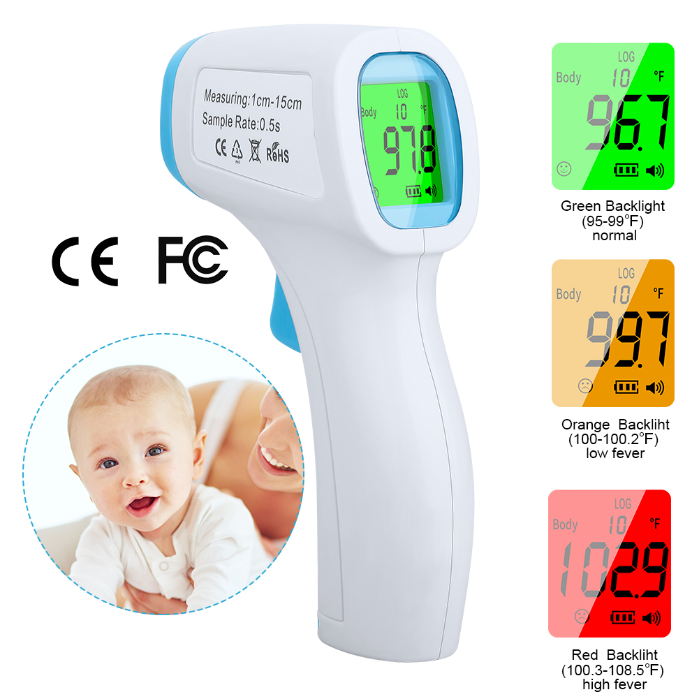 Household Contactless Forehead Thermometer Digital LCD Body Object Thermometer Measurement Safety IR Thermometer For Baby Adult