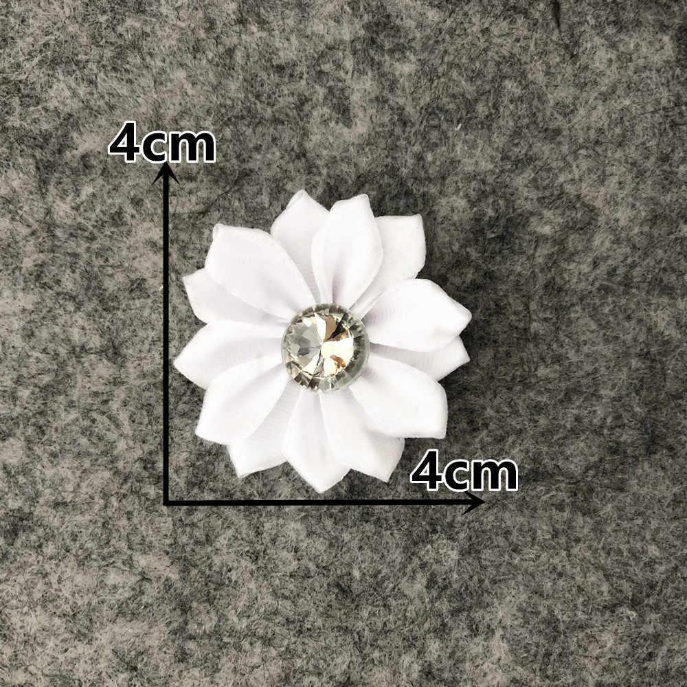 Taśma poliestrowa Rhinestone 3D sztuczny kwiat dekoracja bożonarodzeniowa DIY ręcznie robiony kwiat ścienny notatnik prezent akcesoria do pudełek