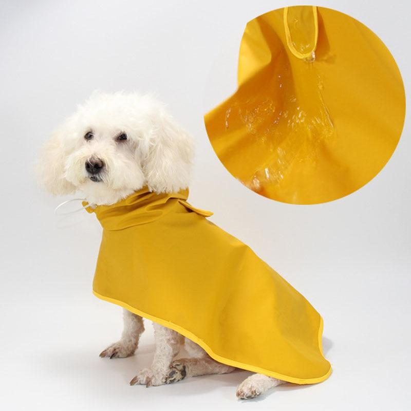 Pet Dog Raincoat Waterproof Dog Rain Coat For Small Large Dogs Corgi Labrador Clothes Outdoor Pet Jacket Clothing For Rain M-8XL