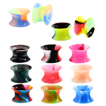Expander-Gauges Piercing Tunnels-Ear Ear-Stretcher Flared-Ear-Plugs Jewelr Silicone Flexible