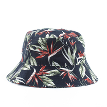 New Panama Bucket Hats Men Women Summer Breathable Cap Printing Cotton Bob Hat Hip Hop Fisherman