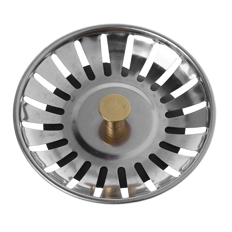 Kitchen Waste Stainless Steel Sink Strainer Plug Drain Filter Stopper Basket Drainer G8TB