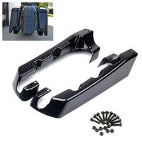 Triclicks 4 Hard Motorcycle Stretched Saddle Bag Extensions Black For Harley Touring Electra Glide Road Glide King 1993 2013